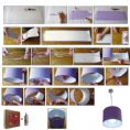 20cm - Make and Paint Lampshade Group Making / Workshop Pack - 50 units